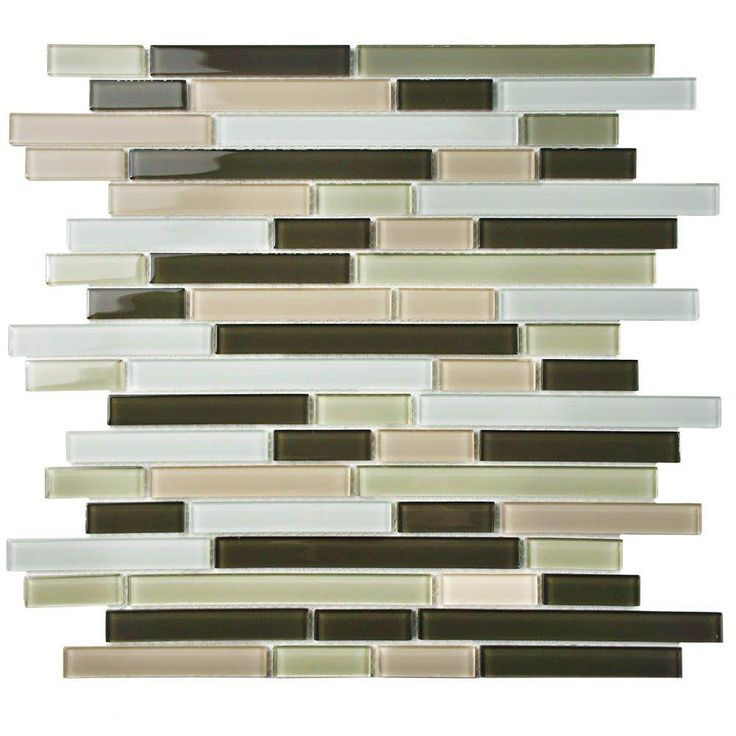 merola tile spectrum piano chaparral in x in x 4 mm glass mosaic tile multihigh sheen