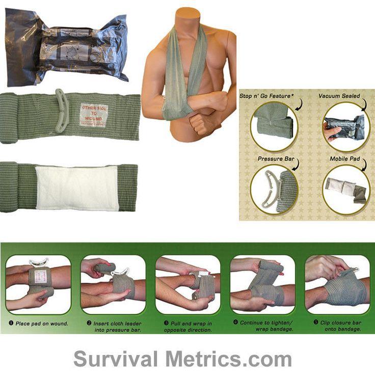 Tactical Trauma Dressing, Israeli Bandage, 4 Inch - Pressure Dressing. THE best bandage for a BOB.
