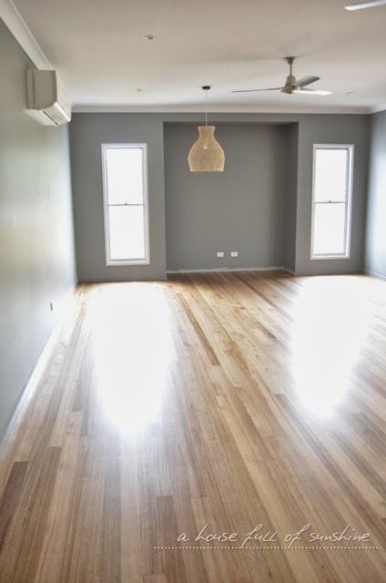 Polished Blackbutt floors with a satin finish. | A house full of sunshine: Our new house - welcome inside!