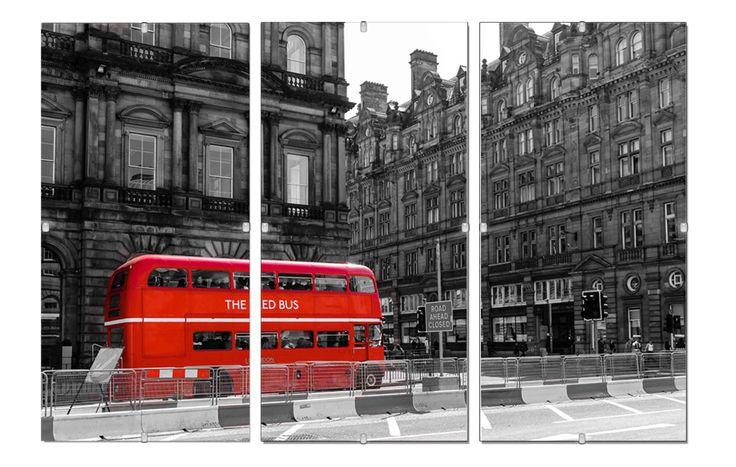 #OBRAZ Tryptyk 30x70cm miasto #Londyn w antyramie (5453875626) - Allegro.pl - Więcej niż aukcje.