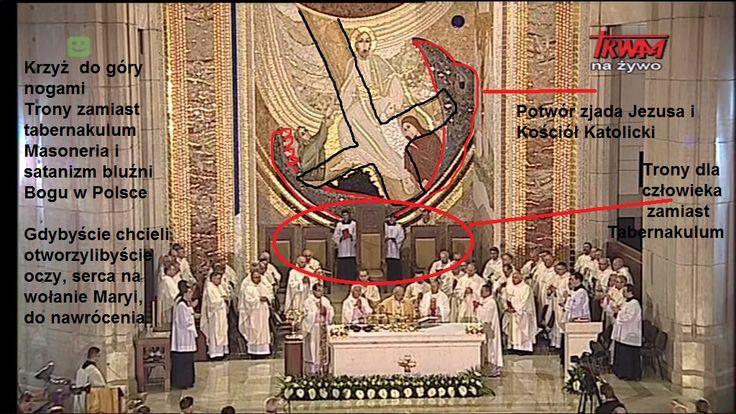 """Cuda Jezusa - Jak to jest możliwe? Jezus Chrystus Wywalony z Krakowskiej świątyni? """" Sanktuarium JP II"""" Krzyż do góry nogami? Masoneria Kościelna stała się faktem. Maryja wzywa do modlitwy i nawrócenia Naród Polski."""