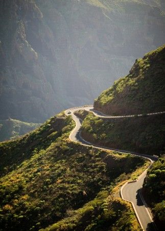 Masca Road, Tenerife. Actually probably the scariest thing I've ever done in my life. The road is absolutely terrifying! Sheer drops and sharp corners!