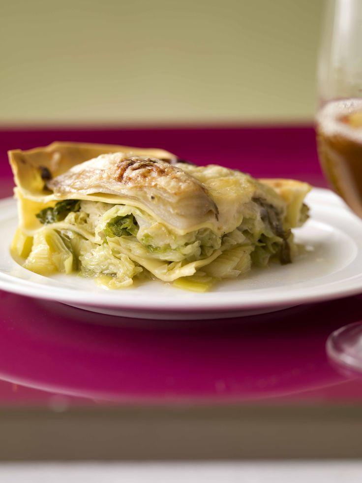 Vegetarische lasagne met seizoensgroenten