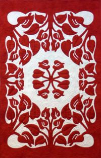 Anthurium Hawaiian quilt applique pattern