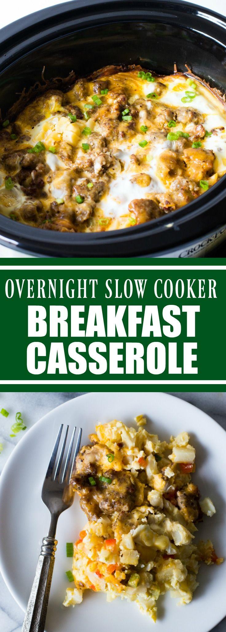 25 best slow cooker breakfast ideas on pinterest for Crockpot breakfast casserole recipes