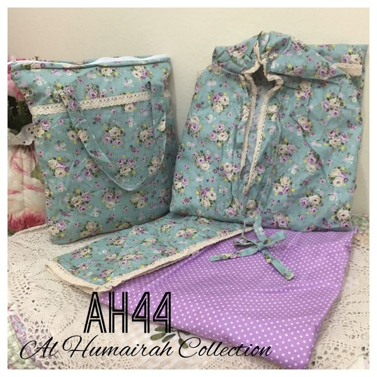 Al Humaira Telekung Cotton – AH44  RM150.00  – Telekung cotton with printed design  – Special vintage style design  – Japanese cotton material  – Face size up to L size  – Set includes beautiful handmade bag & mini sajaddah  – Limited pieces  http://www.telekung.co/product/ah44/