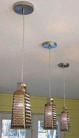 Da pia da cozinha para a iluminação, utensílios em novos usos