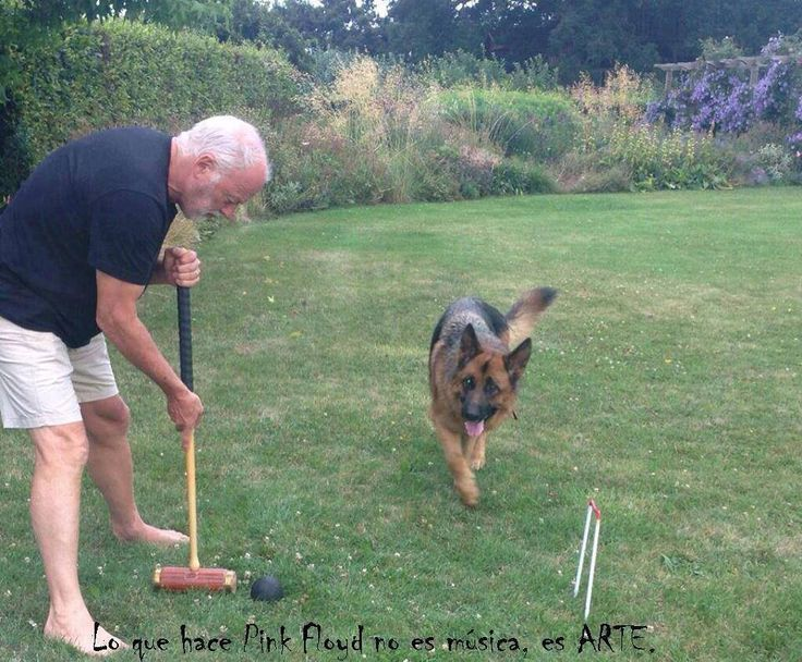 David Gilmour & dog... this picture is new to me. C.  And STILL one of the sexiest Pisces men alive!!!!