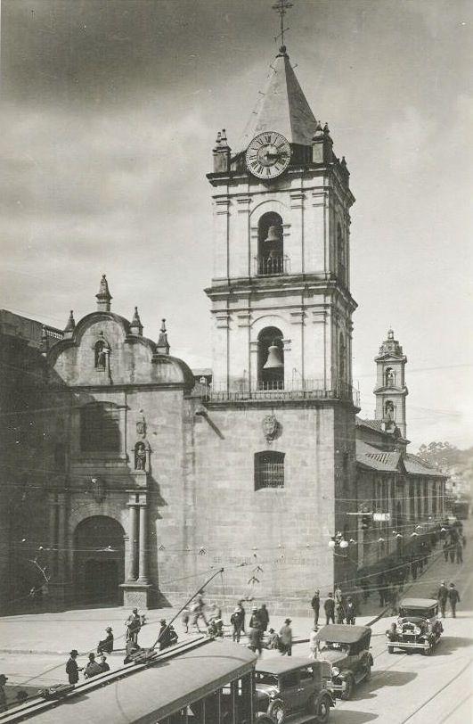 Imágen histórica de la Iglesia de San Francisco. Bogotá.