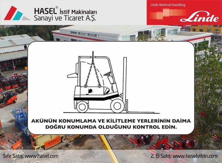 Önce İş Güvenliği!Akünün konumlama ve kilitleme yerlerinin daima doğru konumda olduğunu kontrol edin. www.hasel.com | www.haselvitrin.com