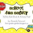 """Perfect for """"Bus Safety Week""""! This activity pack includes:    p. 3-12 School Bus Safety Rule Book (colour teacher bersion)  p. 13-22 School Bus Safet..."""