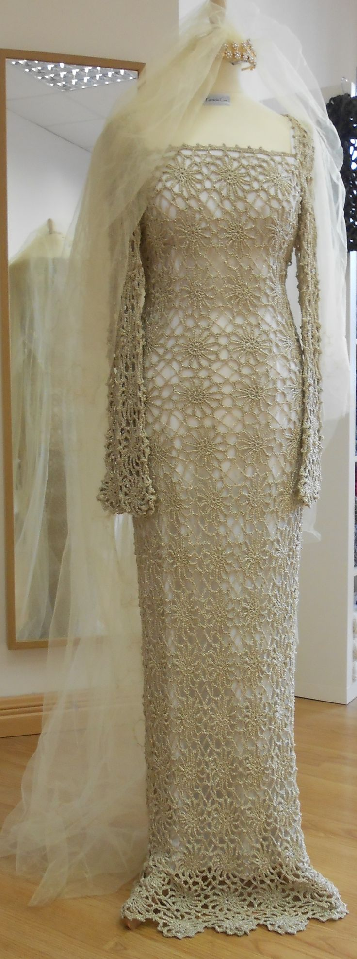 ♥ DIY... Inspiring Crochet Idea ♥ Gorgeous Beautiful Crochet Wedding Dress.