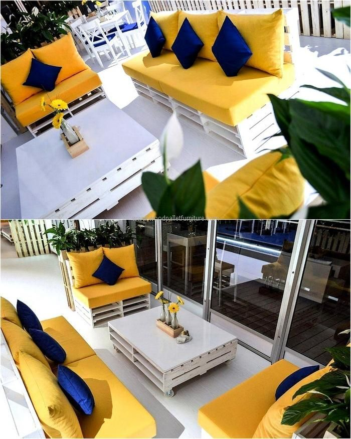 Now here is the idea for creating the furniture for the lounge which should be decorated properly if a person likes to invite the friends for a party every other day because this idea provides the place for sitting and enjoying. This idea can also be copied for restaurant seating arrangement.