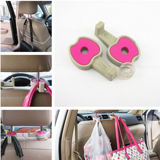 These unique rims  universal  headrest hangers are perfect for storing bags, purses, grocery bags and more. The simplest lifesaver you never knew about. #spon #gadgets