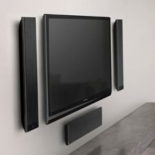 home theater in wall speakers. the slimmest, thinnest wall mountable home theater speakers in y
