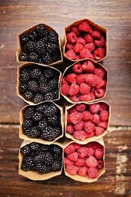 try to have a cup of fresh (or at least no sugar added!) berries every day; load up on your antioxidants to compensate for all the chemicals you're slathering yourself in (sunscreen, tanning oil, bug spray, bleck!)