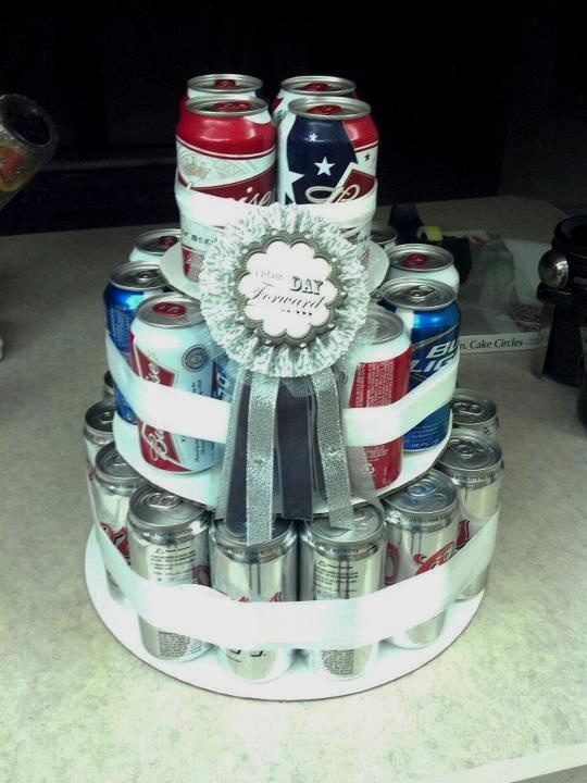 bachelor party gift, beer cake