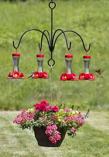 Umbrella Quad Bracket for Hummingbird Feeders... Want One!