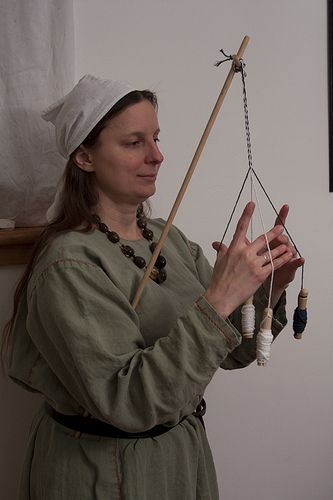 With a stick 2 - hold in place under your arm by jshetzel, via Flickr. Very good tutorial on whip cording.
