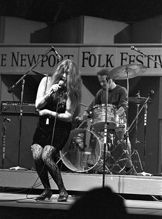 Janis Joplin | Big Brother and the Holding Company at the Newport Folk Festival. July 28, 1968.