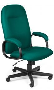 Fabric Office Chair: Teal finish Value Series Executive High-Back Task Office Chair: 670-802 – OFM – Vista Stores @$215.99