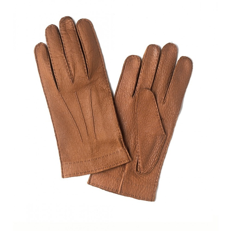 Mens Hand Sewn Peccary Gloves - Gloves - Accessories - Drakes London