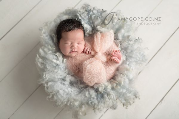 Image of MADE TO ORDER SILVERY BLUE - PREMIUM curly wool felted layer - newborn photo PROP - FLOVELIES