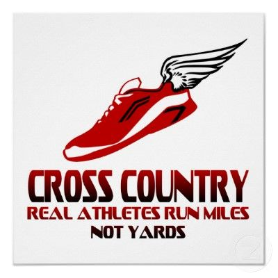 Cross Country Running Poster on the back of our team shirt