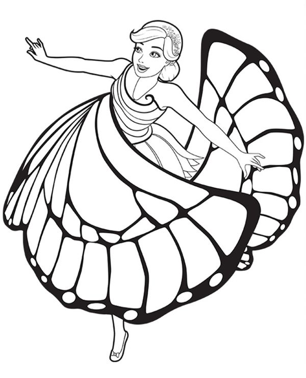 Barbie Dancer Free Coloring Page In 2021 Princess Coloring Pages Barbie Coloring Pages Fairy Coloring Pages