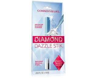 Expert Verdict Diamond Dazzle Stick Diamond Cleaner We love the Diamond Dazzle Stik, sized to fit your make-up bag, which makes diamond and other gemstone rings sparkle in seconds. You won't believe the difference it makes – micro-fine cleansers and po http://www.MightGet.com/march-2017-1/expert-verdict-diamond-dazzle-stick-diamond-cleaner.asp