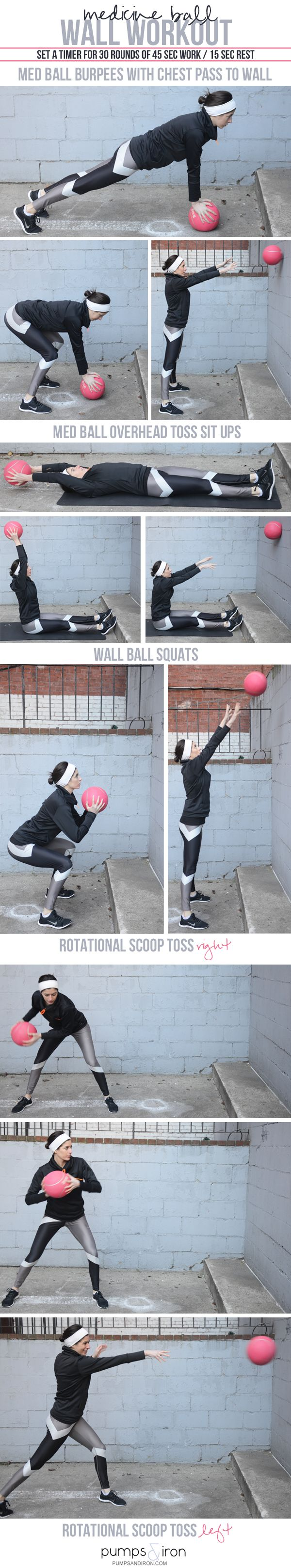 Medicine Ball Wall Workout -- 30 minutes of dynamic, power-building movements
