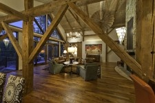 Look at the open space in a barn home!