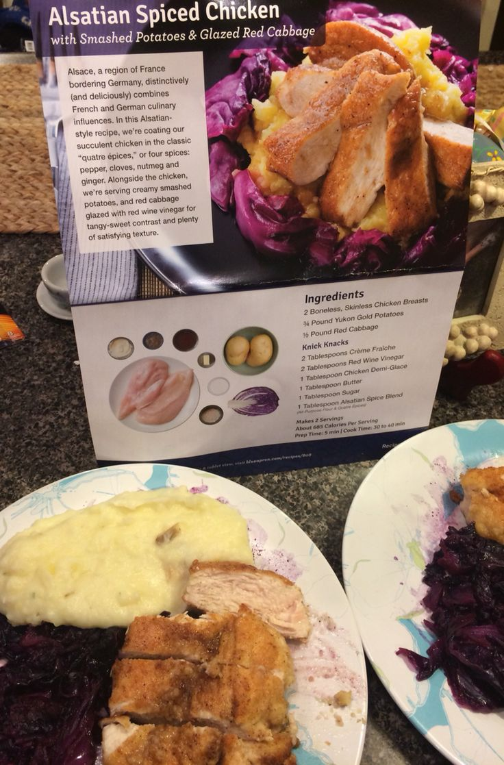 Blue apron germany -  Blueapron Chicken Mashed Potatoes And Red Cabbage