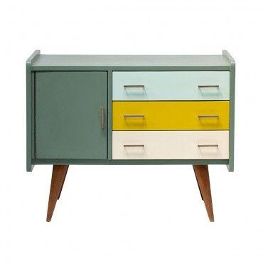 buffet à tiroirs vintage des années 50