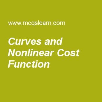 Curves and Nonlinear Cost Function