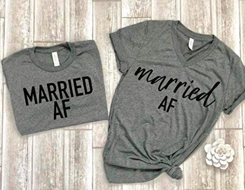 Amazon Com Married Af Tees Couple Shirts Matching Couple Tees