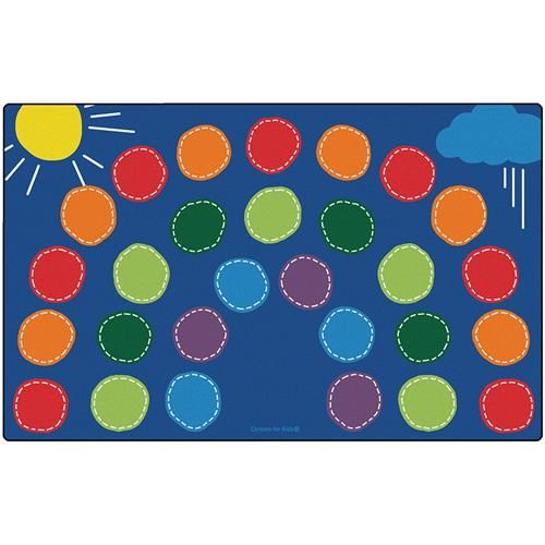 Carpets For Kids Premium Collection Rainbow Seating Area Rug Rug Size: