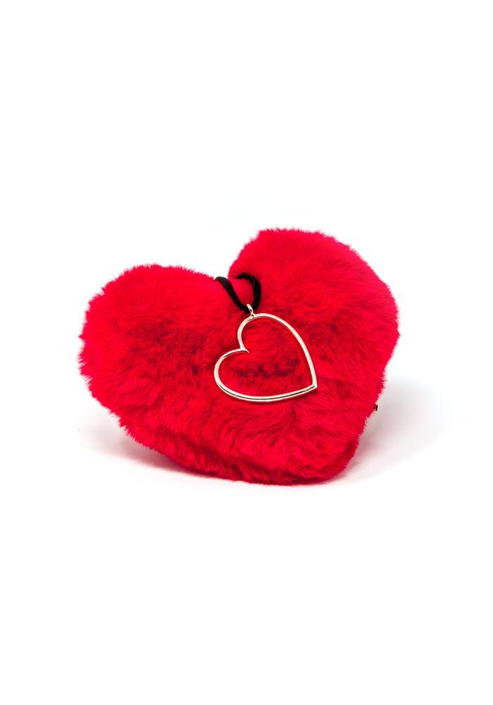 Κολιέ κορδόνι τσόκερ με καρδιά