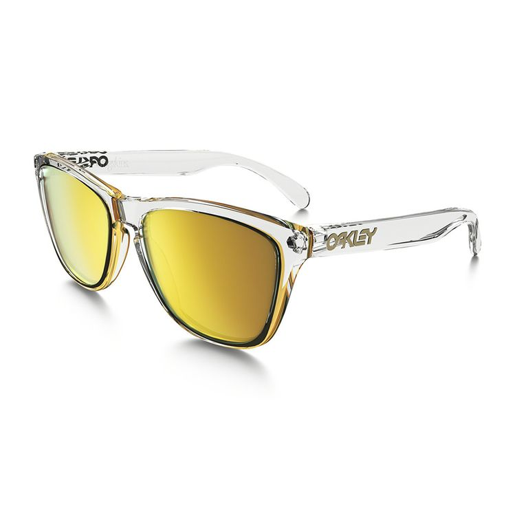 Gafas de Sol Oakley Frogskins Crystal Clear Yellow Unisex – The Surf Town