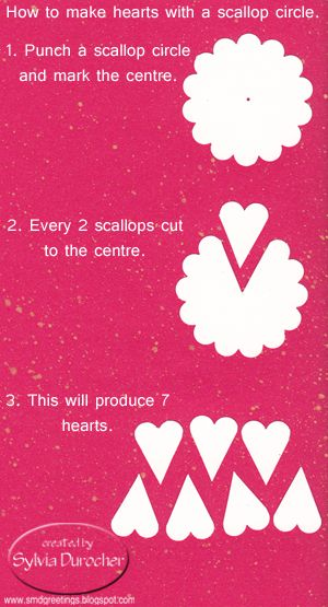 SMD Paper Arts: How To: Hearts with a Scallop Circle from smdgreetings.blogspot