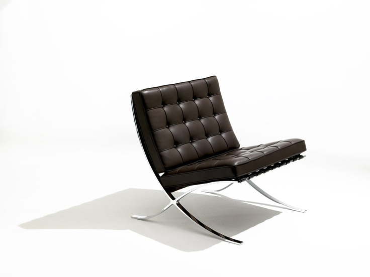 Barcelona chair in stainless steel from Knoll