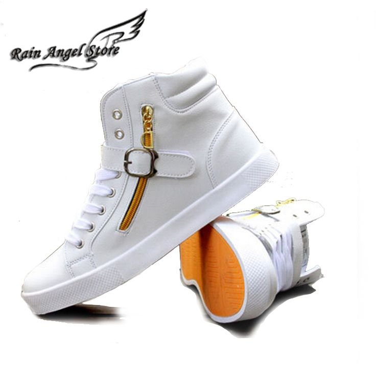 New Men's Shoes Fashion PU Leather Mens Shoes Casual Black/White High Top Sneakers Buckle Side Zipper US 10.5 Nail That Deal http://nailthatdeal.com/products/new-mens-shoes-fashion-pu-leather-mens-shoes-casual-blackwhite-high-top-sneakers-buckle-side-zipper-us-10-5/ #shopping #nailthatdeal