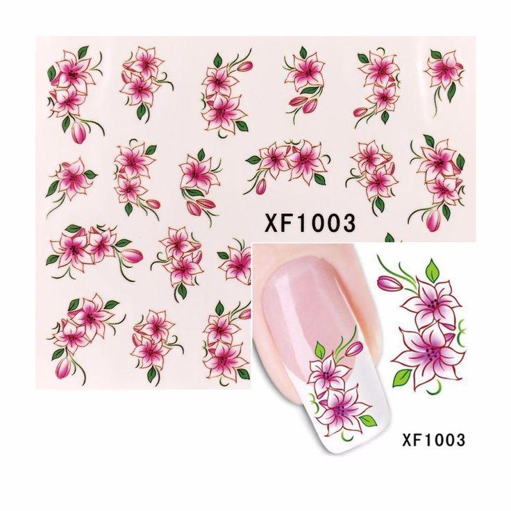 Visit to Buy ZKO 1 Sheet Nail Art Water Decals Flower ...