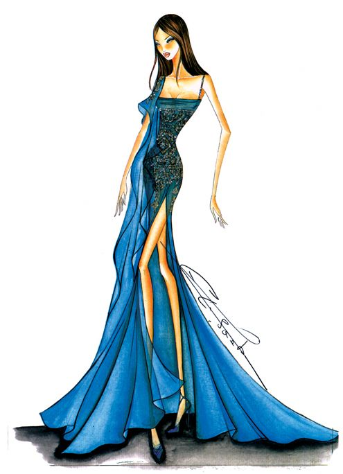 55 best elie Saab images on Pinterest | Drawing fashion, Drawings of ...