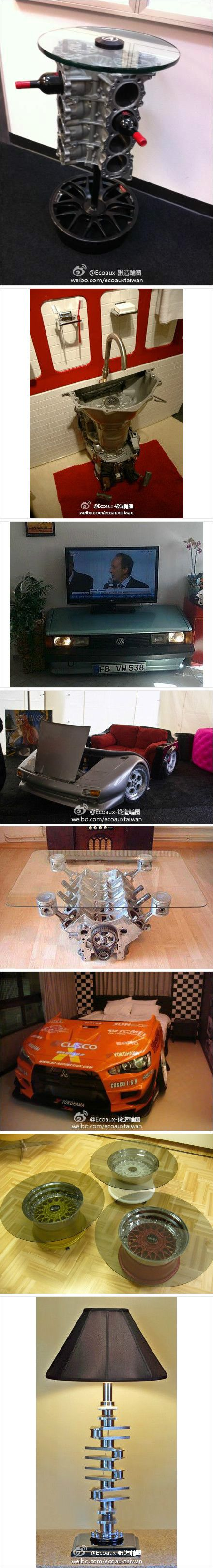 interesting new ways to use old car parts http://www.duitang.com/people/mblog/15914568/detail/