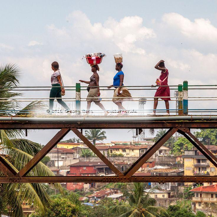 Alte Bahnlinie in Freetown, Sierra Leone