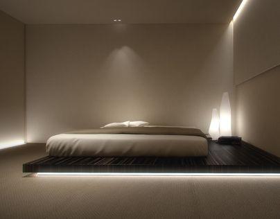 """查看此 @Behance 项目:""""Bedroom with private area""""https://www.behance.net/gallery/7587805/Bedroom-with-private-area"""