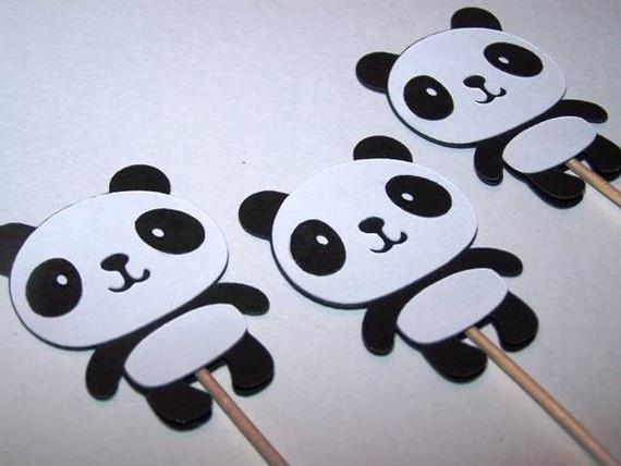 panda cupcake toothpicks: panda cupcake toothpicks