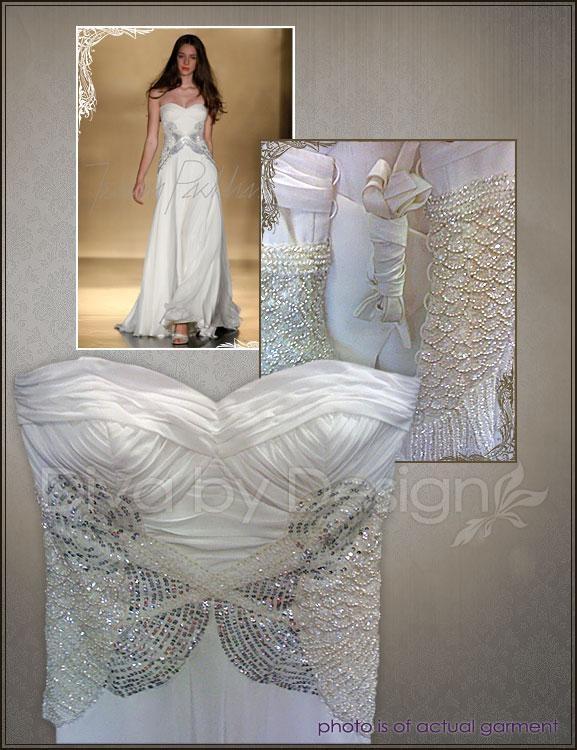 Vintage Inspired Chiffon Wedding dress