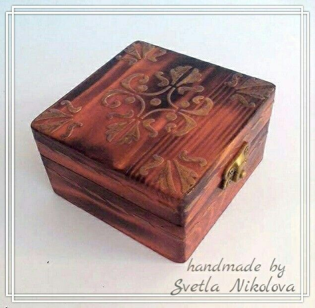 Wood box.Handmade by Svetla Nikolova.